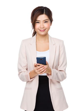 telephone saleswoman: Businesswoman use of the cellphone
