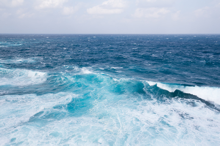 ocean waves: Waves in ocean Stock Photo