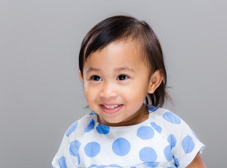 brown skin: Happy girl Stock Photo