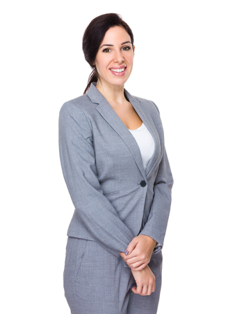 business suit: Brunette Businesswoman