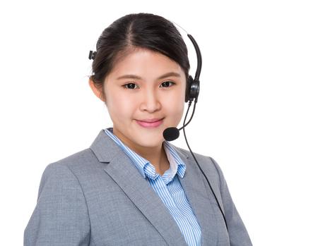 telephone saleswoman: Customer services representative