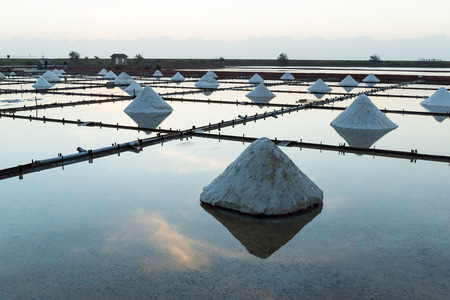 Salt in sea salt farm