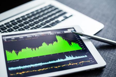Stock market data analyzing on tablet pc