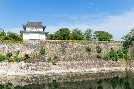 moat: Moat with a Turret in osaka castle