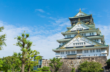 Osaka castle in Japan Standard-Bild