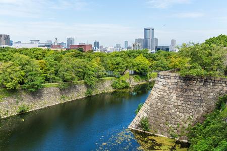 osakajo: Fortification of Osaka Castle in Osaka Stock Photo