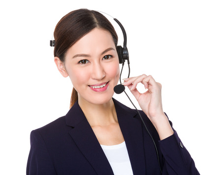niñas chinas: Representante de servicios al cliente