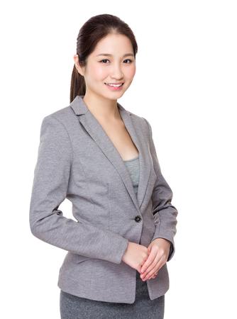 white suit: Businesswoman