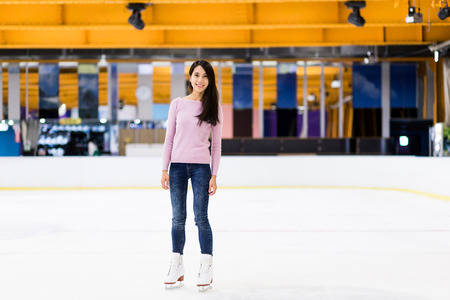 iceskating: Woman on skating rink