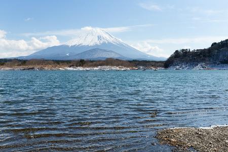 Lake Shoji and mountain fuji