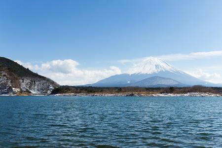 kawaguchi ko: Lake Shoji with mt Fuji in Japan