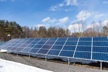photocell: Solar energy panels Stock Photo