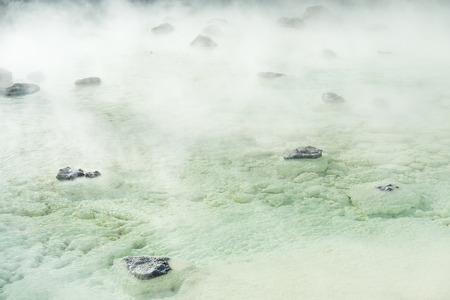 acidity: Hot Spring for your health and relaxing in Japan Stock Photo