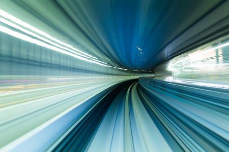 speedy: Speedy train moving in tunnel