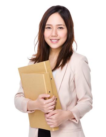 Buisnesswoman hold with folder