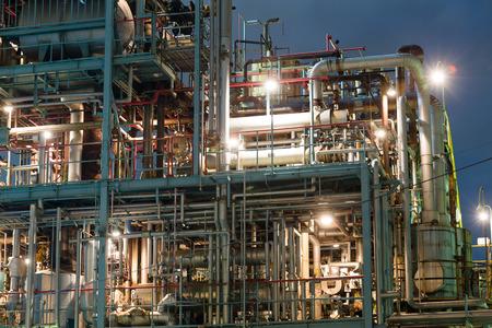 oil and gas industry: Oil and gas industry at night