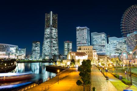 night views: Yokohama city at night