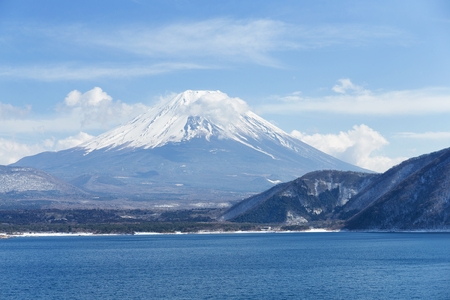 fujisan: Lake and fujisan Stock Photo