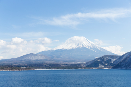 clear day in winter time: Mountain Fuji Stock Photo