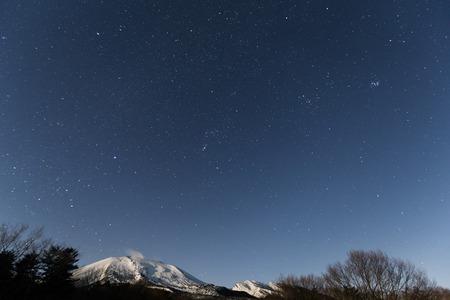 starry night: Starry night and mountain Stock Photo
