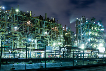 petrol bomb: Industry complex at night