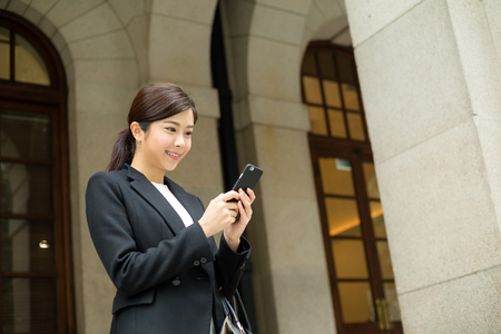 use: Businesswoman use of cellphone