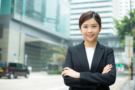 Businesswoman at outdoor Stock Photo