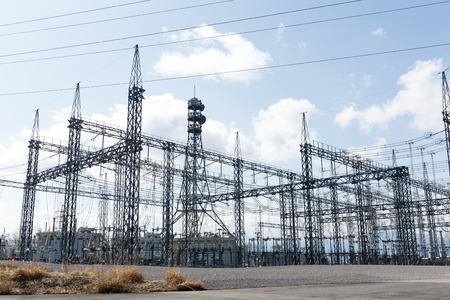 electric power station: Electric power station Stock Photo