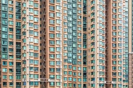 Wohngebäude in der Stadt