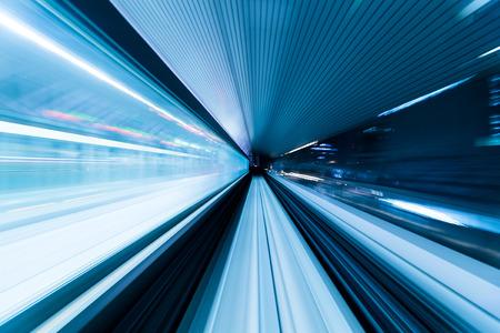 blur subway: Subway tunnel with Motion blur