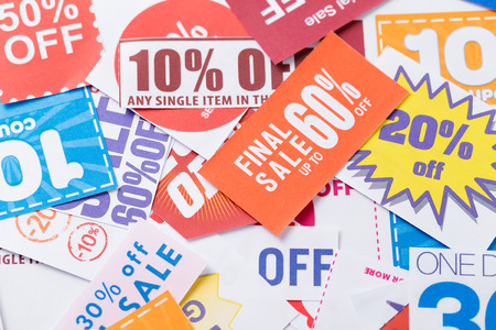 spend the summer: Coupon Stock Photo