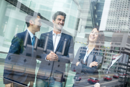 Multi Nationality of business people talk to each other