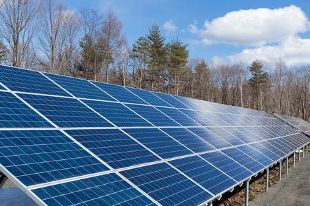 photocell: Solar energy power plant
