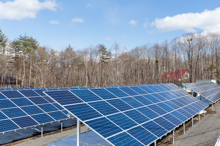 viewfinderchallenge3: Solar energy power station Stock Photo