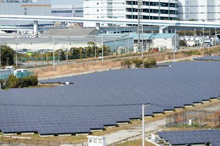 viewfinderchallenge3: Solar energy plant Stock Photo