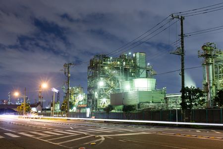 industry: Heavy industry at night