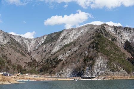 saiko: Motosu lake Stock Photo
