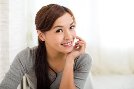 leisure wear: Young beautiful woman Stock Photo