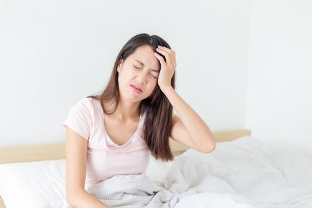 suffer: Woman suffer from headache