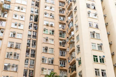 foot bridges: Residential buildings in Hong Kong