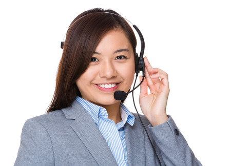 hotlink: Customer hotline operator Stock Photo