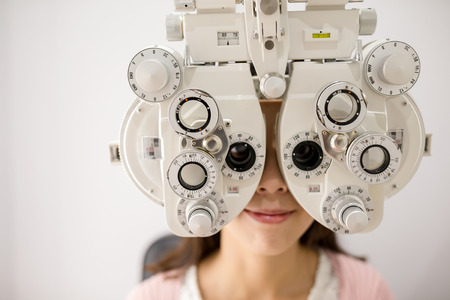 optometry: Optometry machine vision Stock Photo
