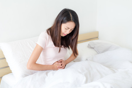 Woman stomach pain