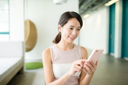 woman on phone: Woman use phone
