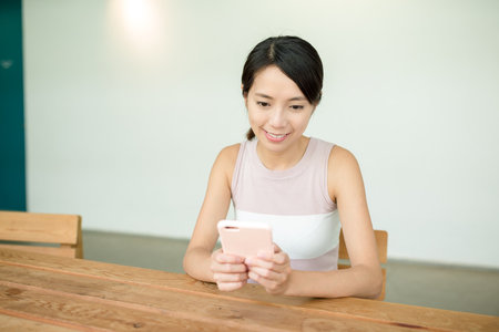 woman on phone: Woman use mobile phone Stock Photo