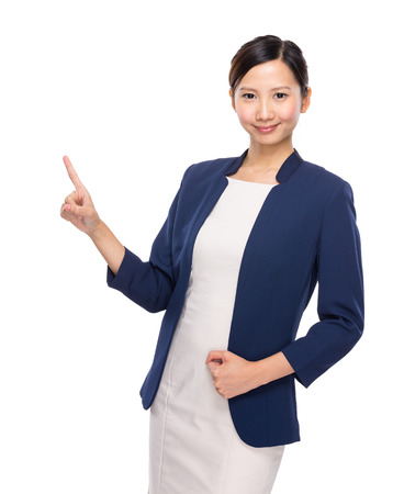 executive assistants: Asian young woman finger up