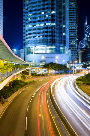Busy traffic in Hong Kong Stock Photo