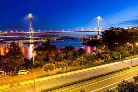 ting: Ting Kau Bridge in Hong Kong