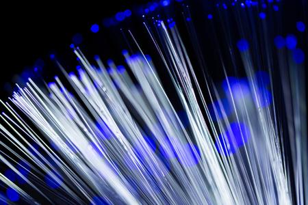 fiber optics: Close up of fiber optics