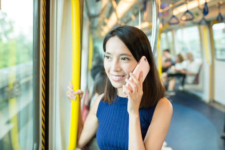 phone calls: Woman chat on cellphone
